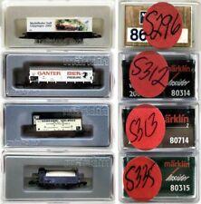 MARKLIN Z SCALE M/M S296-S312-S313-S335  4 COLLECTOR Freight Cars Marklin BoxsC8