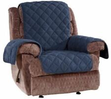 Sure Fit Microfleece Recliner Furniture Cover Non-Slip Storm Blue
