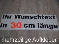Wunschtext Aufkleber Auto Domain Beschriftung Schriftzug 30cm mehrzeilig !