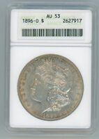 1896-O $1 ANACS AU53 Morgan Silver Dollar Rare Key Date Coin