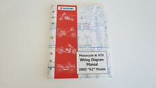 2002 Suzuki Motorcycle & Atv Wiring Diagram Manual 99923-54002 Used Oem