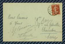-= Semeuse avec oblitération allemande de METZ (Moselle) s/CPA - 10.08.1919 =-