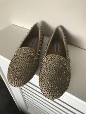 Steve Madden Gold Glitter & Studded Flats size 39 UK 6 BNIB