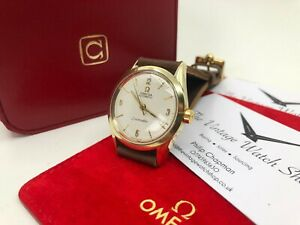 Vintage gold Omega Seamaster Automatic Mens Watch + Box 1954