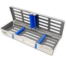Dental Sterilization Cassette Autoclave Tray Rack Box 5 Instruments Blue