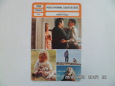 CARTE FICHE CINEMA 1999 PEAU D'HOMME COEUR DE BETE Serge Riaboukine B.Blancan