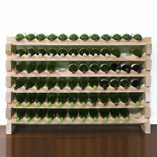 Modularack 72 Bottle Wooden Wine Rack (Natural Pine)