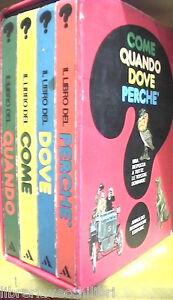 COME QUANDO DOVE PERCHE IL LIBRO DEL Mondadori 4 volumi cofanetto Enciclopedia