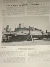 1902 THE LATEST GERMAN SUBMARINE BOAT HOWALDT KIEL