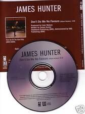 JAMES HUNTER Don't Do Me No Favours PROMO DJ CD Single