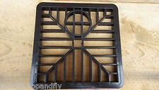 "Black Drain Gulley Grid 6"" x 6"" 150mm x 150mm Square plastic leaves gutter Water"