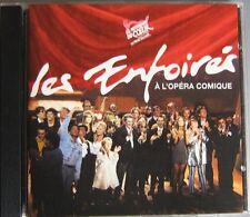 RENAUD GOLDMAN BRUEL SOUCHON MITCHELL PARADIS CD LES ENFOIRES A L'OPERA COMIQUE
