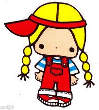 "4"" HELLO KITTY SANRIO  GIRL  CHARACTER FABRIC APPLIQUE IRON ON"