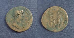 Hadrian   dupondius  ADVENTUS Rome  Æ28