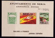 ESPAÑA - GUERRA CIVIL - NERJA - EDIFIL 8 - HOJITA ASISTENCIA SOCIAL