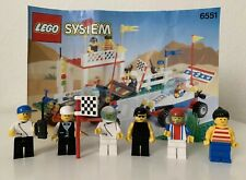 LEGO Minifigures & Instructions Checkered Flag 500 Town Racing 6551 (1992)