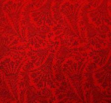 Palette by Jinny Beyer for RJR BTY Civil War Black on Ruby Red Floral Leaf Spray
