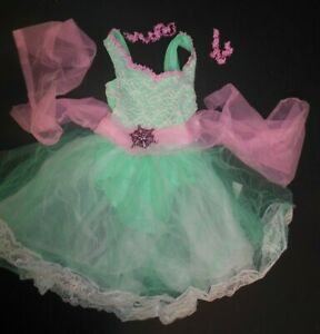 romantic length ballet costume brooch included child Sz Small 4-6m Mint Green