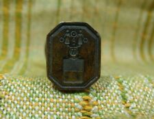 Antique 18th Century Brass & Wood Nobility Armorial Sealing Wax Stamp Seal