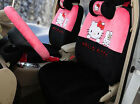 18pcset Cartoon Plush Hello Kitty Universal Styling Car Seat Cover Seat Covers