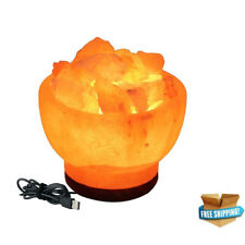 BOWL SHAPE NATURAL HIMALAYAN CRYSTAL ROCK SALT LAMP PURE PINK SALT LAMP NATURAL