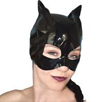 Sexy LACK Katzen Maske mit Ohren für Fasching* Halbmaske Catwoman