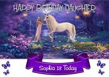 personalised birthday card Unicorn daughter son grandson any name/age/relation/