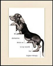 BASSET HOUND COMIC DOG PRINT MOUNTED READY TO FRAME #10