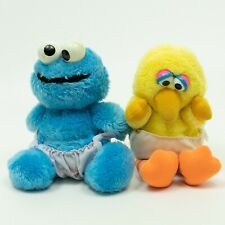 Hasbro Softies/Luvs Diapers Plush - Sesame Street Cookie Monster & Big Bird