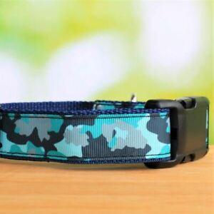 Adjustable Dog Collar - Blue Camo