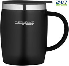 Thermos ThermoCafe 450ml Black Soft Touch Home Work Office Tea Coffee Desk Mug