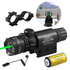 Military Tactical Green Dot Laser Sight Rifle Gun Scope Rail Remote Switch Hunt
