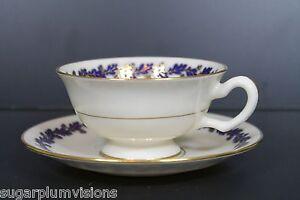 Lenox SHENANDOAH COBALT BLUE Coffe Tea Cup and Saucer Excellent