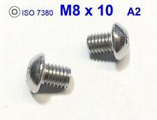 10 Zylinderkopfschrauben niedrig ISO 14580 EDELSTAHL A2 M8X10 V2A