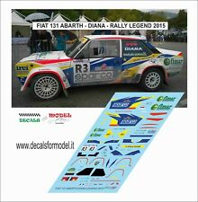 DECALS FIAT 131 ABARTH DIANA RALLY LEGEND 2015