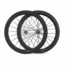 60mm Carbon Bike Wheel 23mm Width Tubular Bicycle Wheels Novatec A271F372