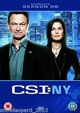 CSI New York NY Complete Season 8 DVD Gary Sinise New Sealed Original UK Rel R2