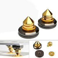 2sets M6 Speaker Spike Isolation Stand Cone Base Pads Stick-on Audio Amp GMF
