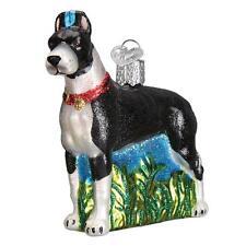 Great Dane Dog Breed Old World Christmas Glass Animal Pet Ornament Nwt 12474