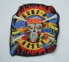 GUNS N ROSES ROCK BAND 8cm EMBROIDERED SEW IRON ON JACKET PATCH BADGE METAL