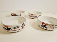 More details for  kellogs cereal bowls x 4 1987 frosties, coco pops, krispies, fruit & fibre