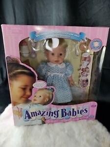 Playmates Amazing Babies Interactive Doll Talks! Turns Head! Batteries Included!