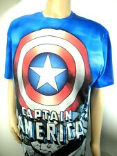 Superman and Captain America Blue T-Shirt Lot of Two Men's size XL