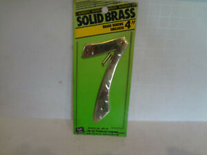 """HyKo 4"""" Solid Brass House Number """"7"""""""