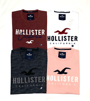 HOLLISTER Men's Logo Graphic T-Shirt Short Sleeve Tee Free Shipping