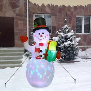 Christmas Lighted Inflatable Snowman LED Light Toy Doll LED Yard Prop Decoration