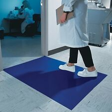 "CleanPro Tacky/Sticky Mat, Blue, 18"" x 36"" Free Shipping Cleanroom Supplies"