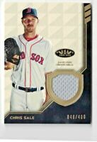 🔥2018 TOPPS TIER ONE CHRIS SALE GU JERSEY RELIC #'D 048/400🔥BOSTON RED SOX🔥