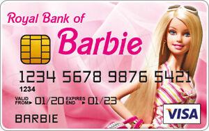 Barbie Novelty Plastic Credit Card