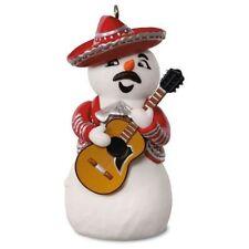 2016 Feliz Navidad Mariachi Snowman Hallmark Magic Sound Musical Ornament Mexico